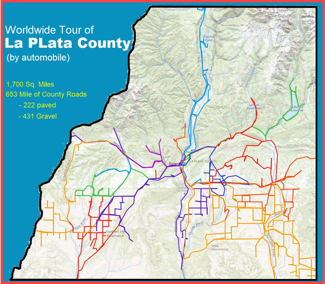 la plata county map